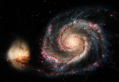 Photograph - Galactic Snail - Whirlpool Galaxy M-51 by Weston Westmoreland