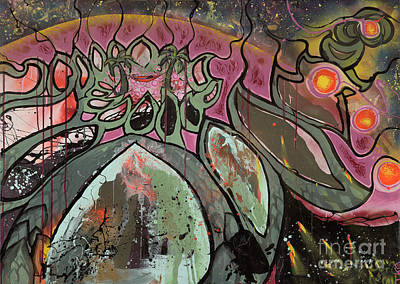 Galactic Sunrise Art Print