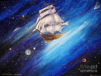 Galactic Traveler Art Print