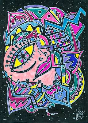 Galactic Drawing - Galactic Voyage by Michelle Villarreal