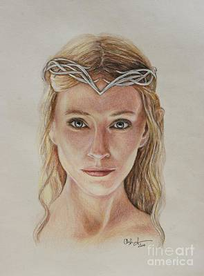 Cate Blanchett Drawing - Galadriel by Christine Jepsen