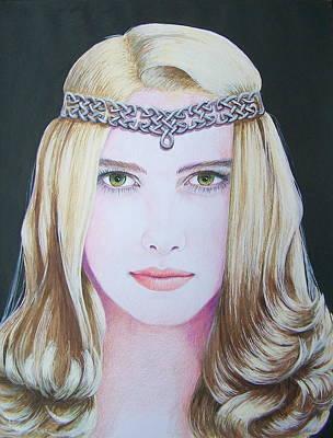 Galadriel Of Lothlorien Art Print by Constance DRESCHER