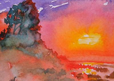 Galapagos Sunset Art Print by Warren Thompson