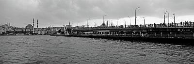 Galata Photograph - Galata Bridge Over Golden Horn, Yeni by Panoramic Images