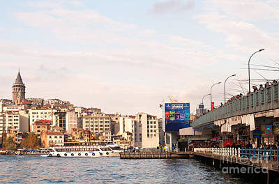 Photograph - Galata Skyline And Bridge 01 by Rick Piper Photography