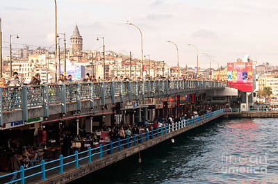 Photograph - Galata Skyline And Bridge 02 by Rick Piper Photography