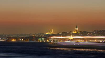 Galata Tower Night View Original by Recep Suha Selcuk