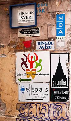 Photograph - Galata Wall by Rick Piper Photography