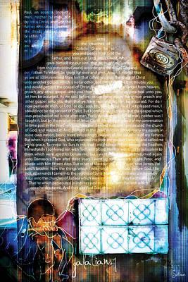Crucify Digital Art Digital Art - Galatians 1 by Switchvues Design