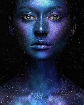 Face Wall Art - Photograph - Galaxy by Alex Malikov