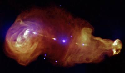 Galaxy And Supermassive Black Hole Art Print