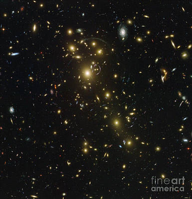 Heavenly Body Photograph - Galaxy Cluster Abell 1703 by Science Source