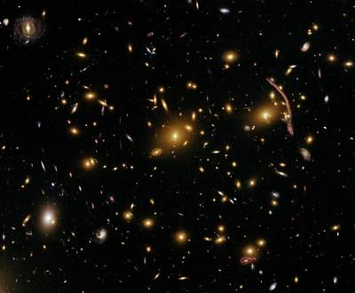 Hubble Space Telescope Photograph - Galaxy Cluster Abell 370 by Nasa/esa/stsci/hubble Sm4 Ero Team/st-ecf