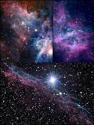 Digital Art - Galaxy Collage by Karen Buford