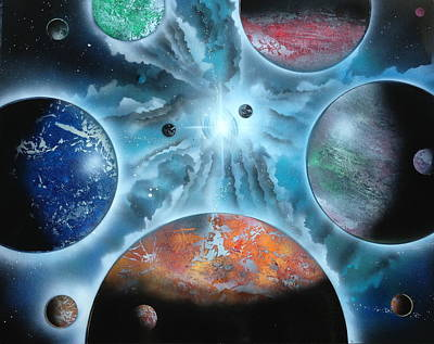 Galaxy Art Print by Markus Fussell