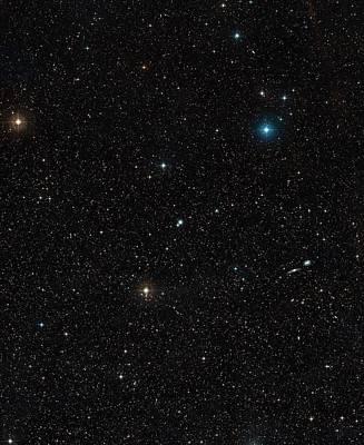 Digitized Photograph - Galaxy Ngc 3783 by Eso/digitized Sky Survey 2. Acknowledgement: Davide De Martin