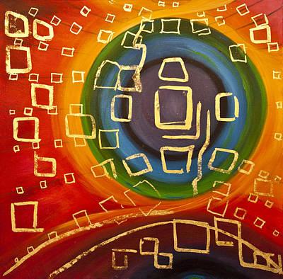 Galaxy On Black Hole Original by Lilian Istrati