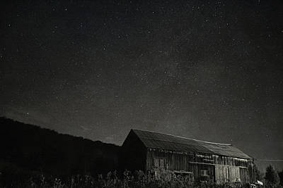 Photograph - Galaxy Over The Barn by Emily Stauring