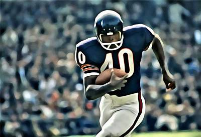 Gale Sayers Art Print by Florian Rodarte