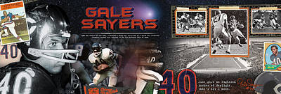 Gale Sayers Panoramic Art Print
