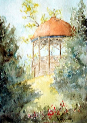 Painting - Galena Gazebo 51314 by Ken Marsden