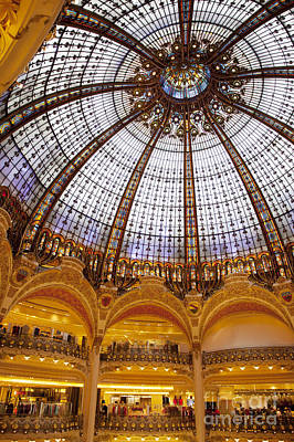 Upscale Photograph - Galeries Lafayette Dome by Brian Jannsen