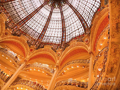 Photograph - Galeries Lafayette Paris by Heidi Hermes