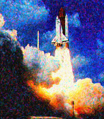 Launch Painting - Galileo by Celestial Images