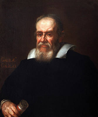 Galileo Galilei After Justus Sustermans Print by Bodleian Museum/oxford University Images