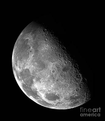 The Moon Imaged By Galileo Print by Art Now And Here