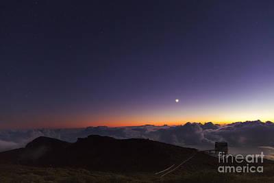 Galileo Telescope And Crescent Moon Art Print
