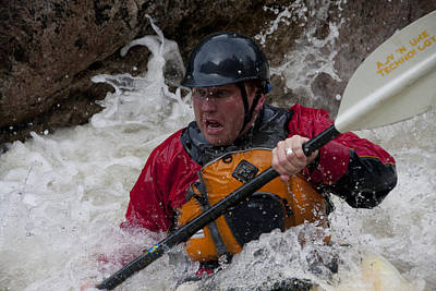 Gallatin River Photograph - Gallatin Kayaker  by Jason Standiford