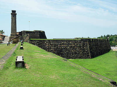 Galle Fort Clock Tower And Rampart Art Print