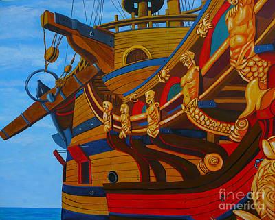 Spanish Galleons Painting - Spanish Treasure Galleon Atocha by Anthony Dunphy