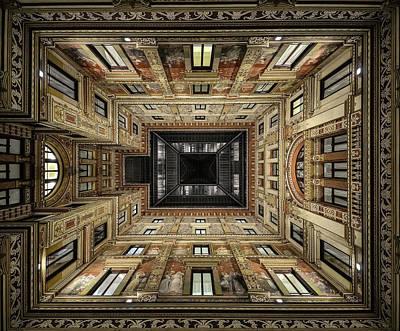 Historic Architecture Photograph - Galleria Sciarra by Renate Reichert