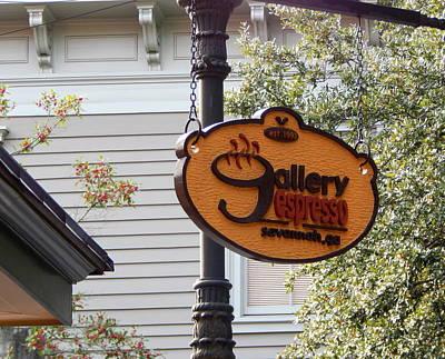 Gallery Espresso Sign Original by Terry Cobb