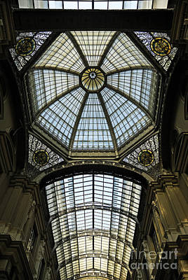 Gallery Glass Roof Of The City Hall Building Art Print by Sami Sarkis