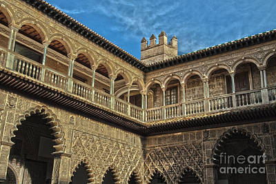 Moorish Digital Art - Gallery Inside A Moorish Castle by Patricia Hofmeester