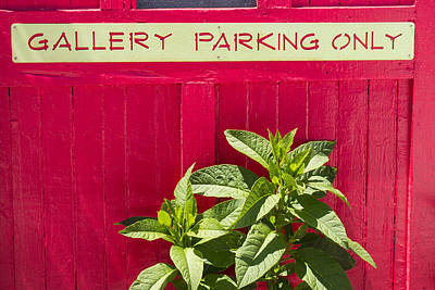 Photograph - Gallery Parking Only by Frank Winters