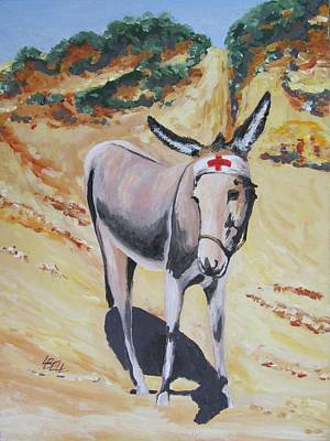 Gallipoli Donkey Art Print by Leonie Bell