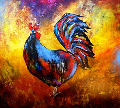 Gallo Art Print by Thelma Zambrano