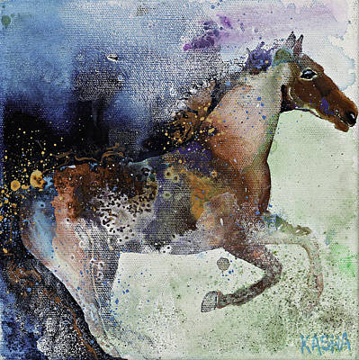 Canter Painting - Gallop by Kasha Ritter