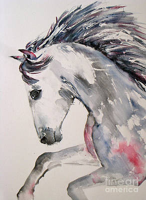 Painting - Galloping Horse by Mona Mansour Jandali