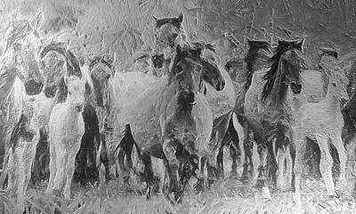 Galloping Horse Team Art Print