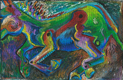 Galloping Mule Art Print by Melinda Dare Benfield