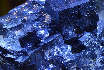 Photograph - Galena Mineral Crystal Macro by Shawn O'Brien