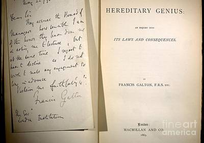 Galton Photograph - Galtons Hereditary Genius & Signed by Paul D. Stewart