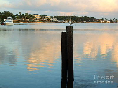 Photograph - Galveston Bay At Sunrise by Audrey Van Tassell