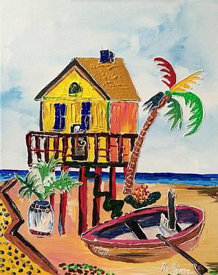 Galveston Beach House 1 Original by Alberto Kurtyan