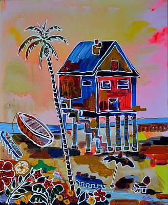 Galveston Beach House 2 Original by Alberto Kurtyan